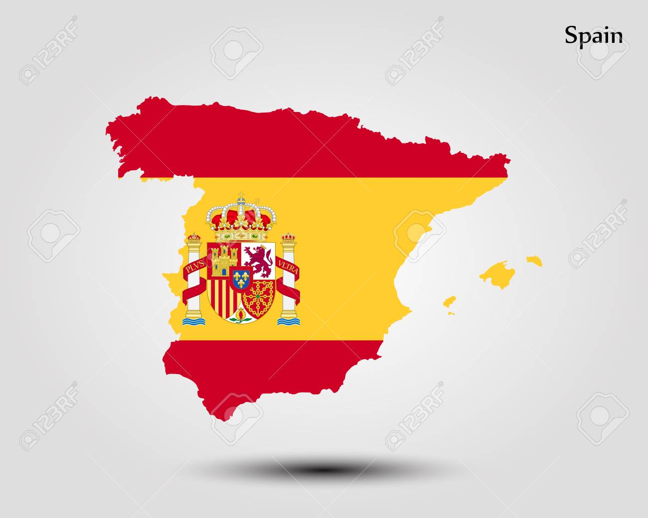 Map Of Spain Vector Free.Map Of Spain Vector