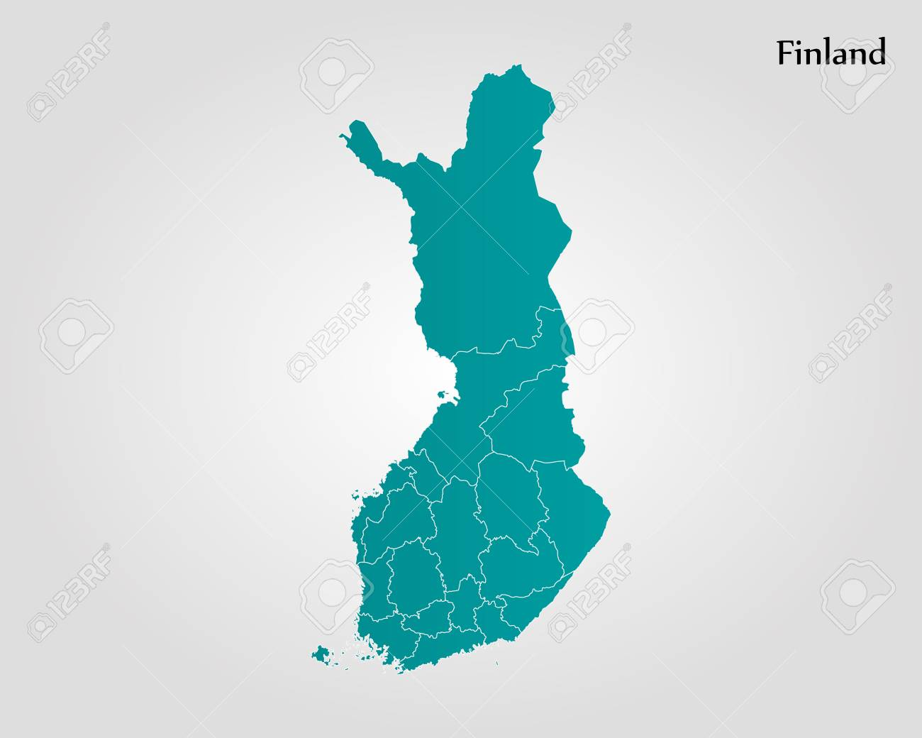 Map of Finland vector - 82343791