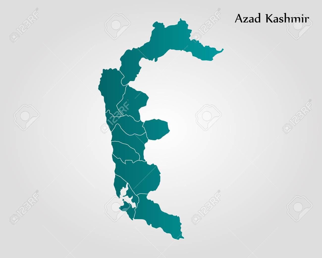 Kashmir On World Map.Map Of Azad Kashmir Vector Illustration World Map Royalty Free