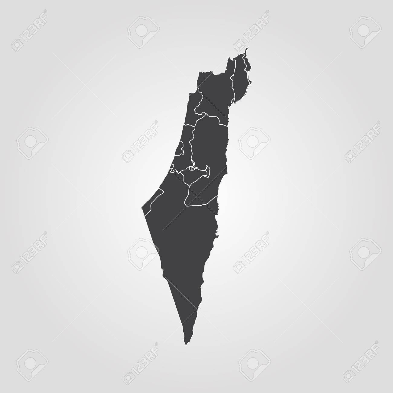 Isreal On World Map.Map Of Israel Vector Illustration World Map Royalty Free Cliparts