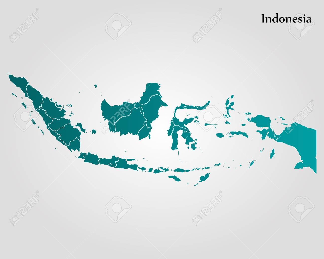 Map Of Indonesia. Vector Illustration. World Map Royalty Free ...