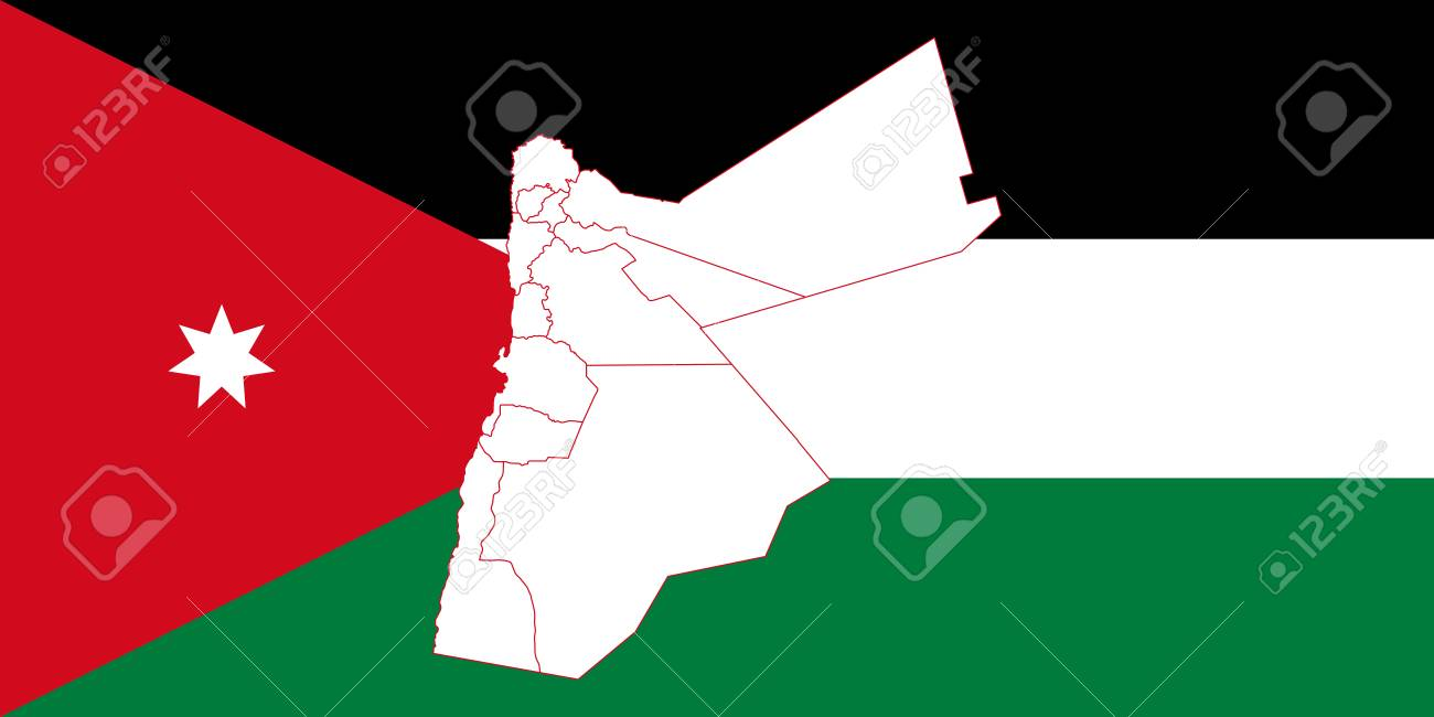 Map and flag of jordan vector illustration world map royalty free map and flag of jordan vector illustration world map stock vector 89750390 gumiabroncs Images