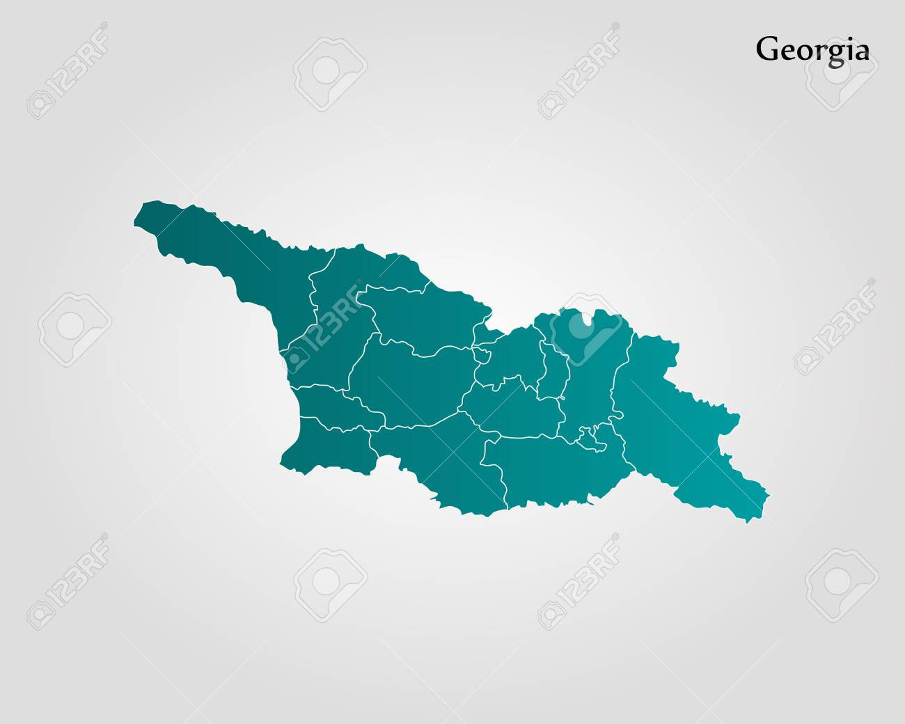 Map Of Georgia Vector Illustration World Map Royalty Free Cliparts