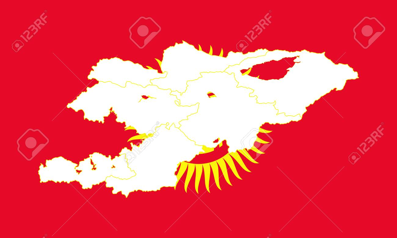 Map and flag of kyrgyzstan vector illustration world map royalty map and flag of kyrgyzstan vector illustration world map stock vector 89750415 gumiabroncs Image collections