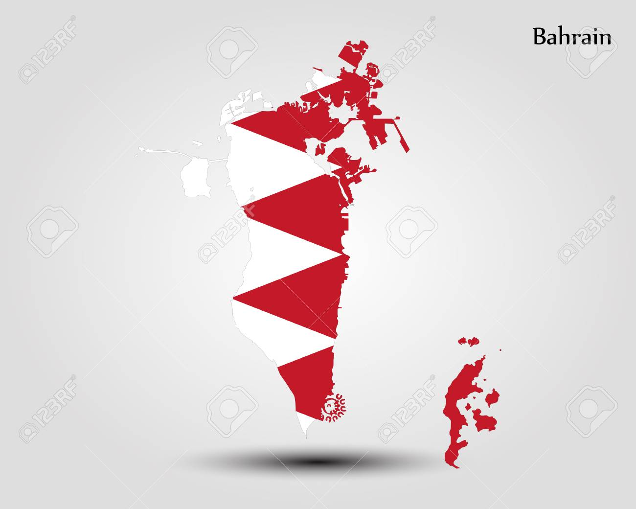 Kingdom of bahrain map regions vector illustration world map kingdom of bahrain map regions vector illustration world map foto de archivo 89750419 gumiabroncs Images
