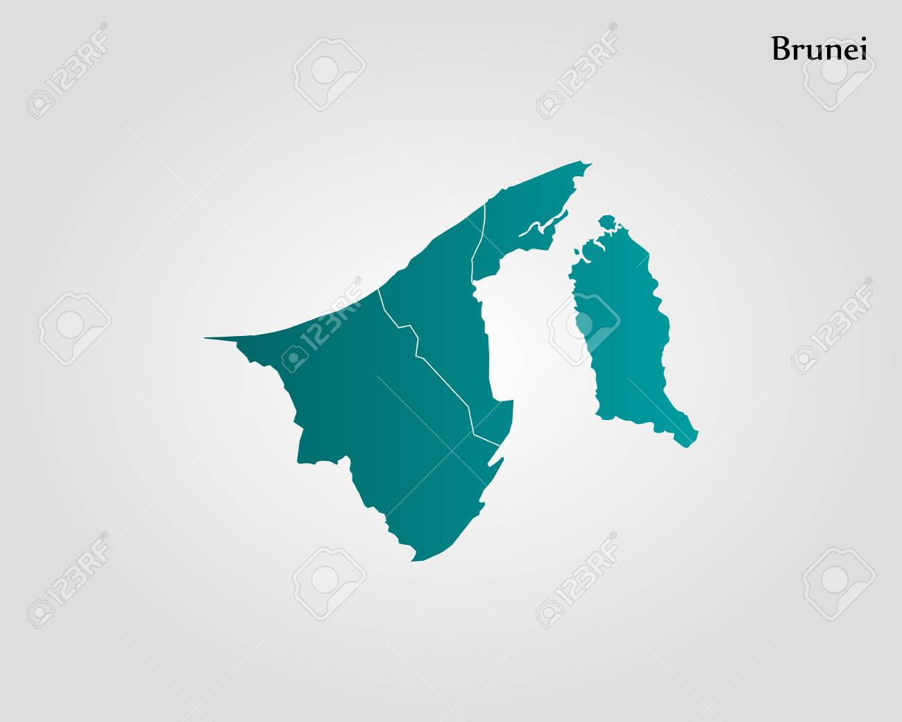 Map Of Brunei Vector Illustration World Map Royalty Free Cliparts