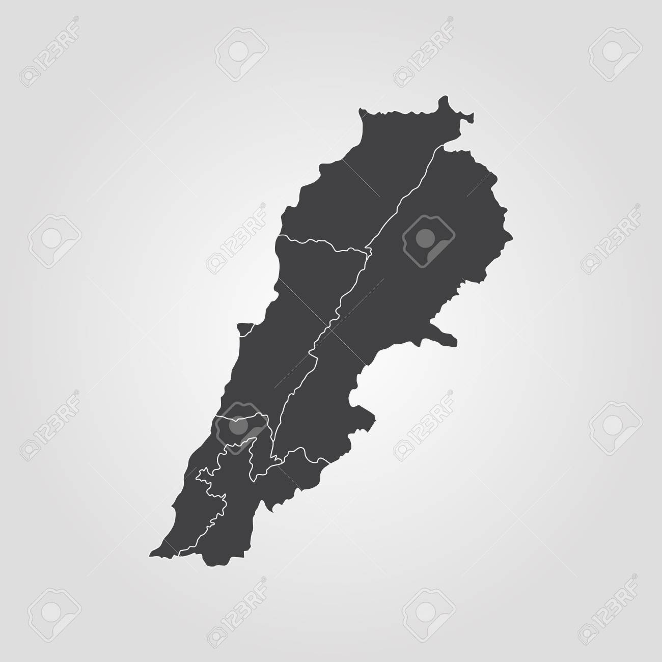 Map Of Lebanon. Vector Illustration. World Map Royalty Free Cliparts ...