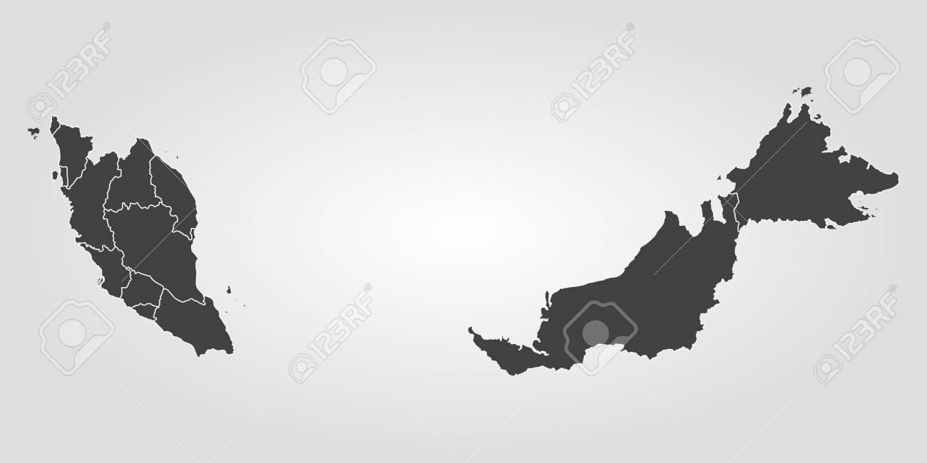 Map of Malaysia. Vector illustration. World map - 89750534