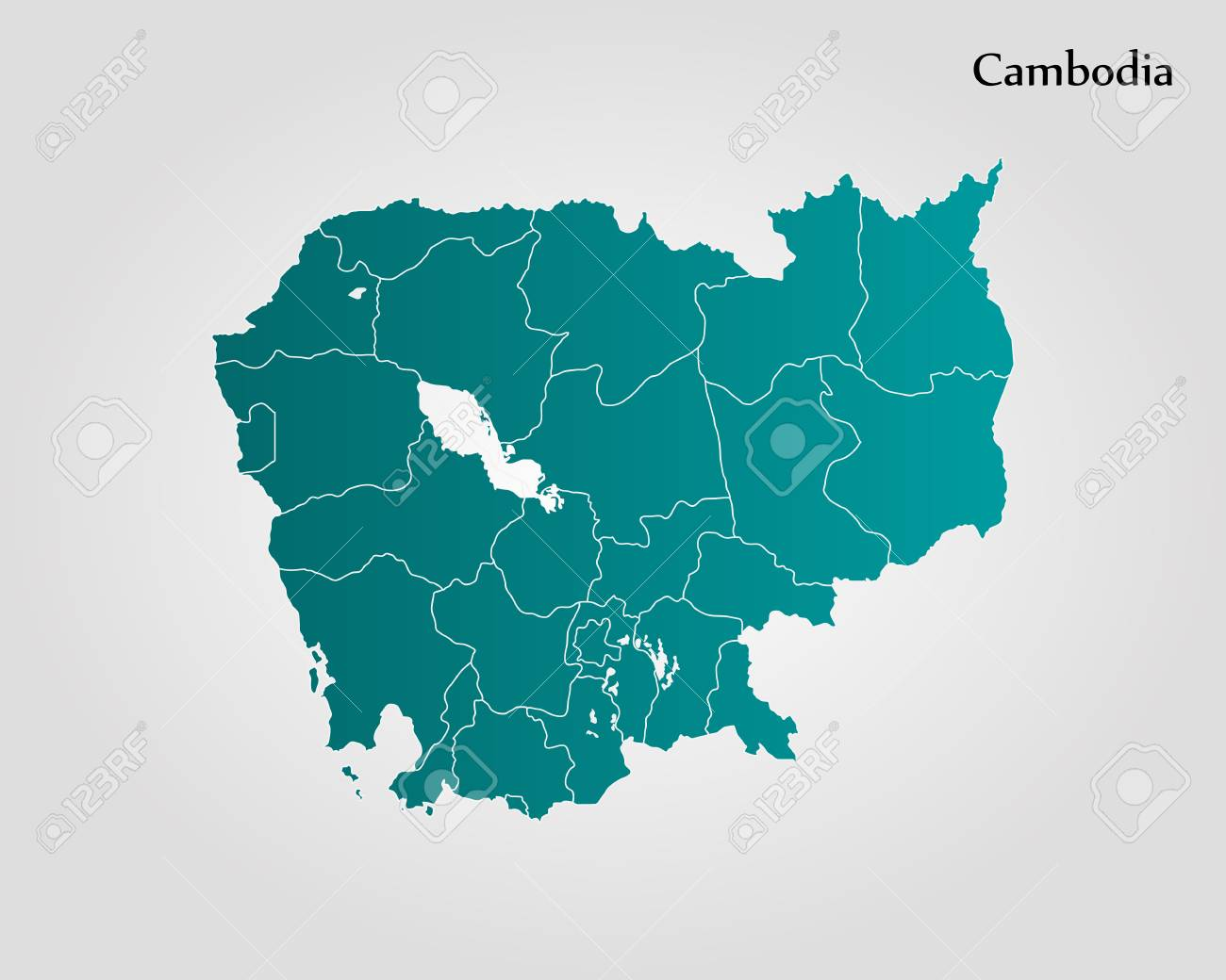 Map Of Cambodia Vector Illustration World Map Royalty Free