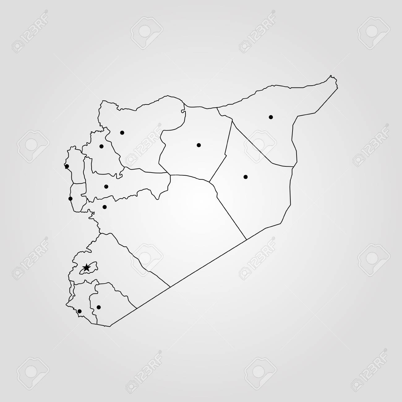 Map Of Syria. Vector Illustration. World Map Royalty Free Cliparts ...