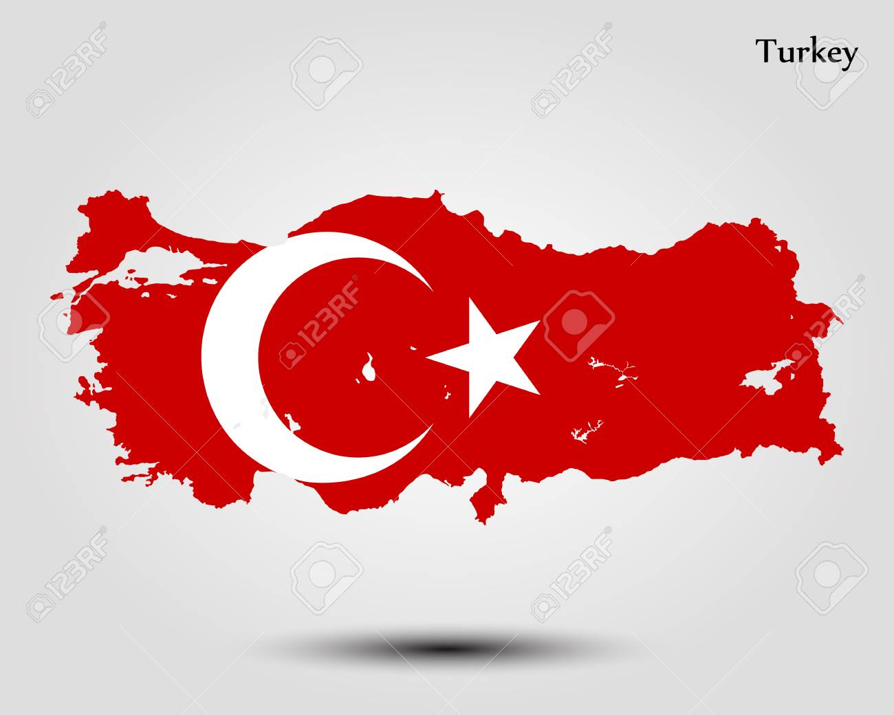 Map Of Turkey. Vector Illustration. World Map Royalty Free Cliparts ...