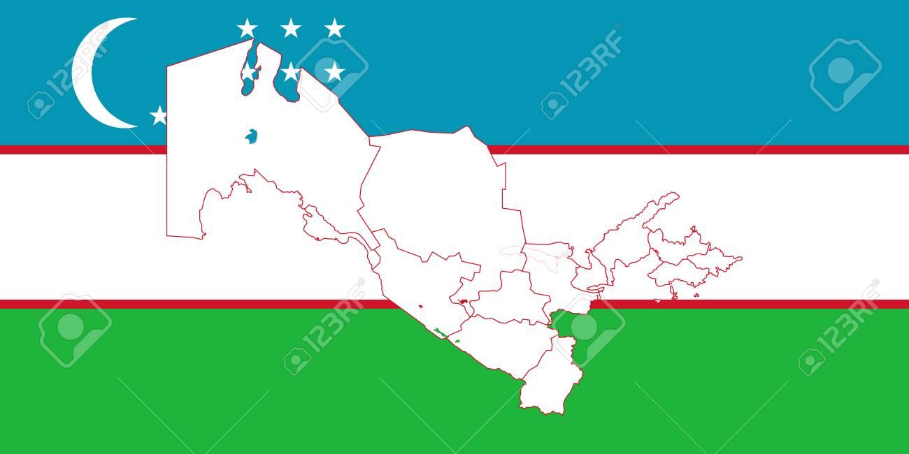 Map and flag of uzbekistan vector illustration world map royalty map and flag of uzbekistan vector illustration world map stock vector 89751483 gumiabroncs Images