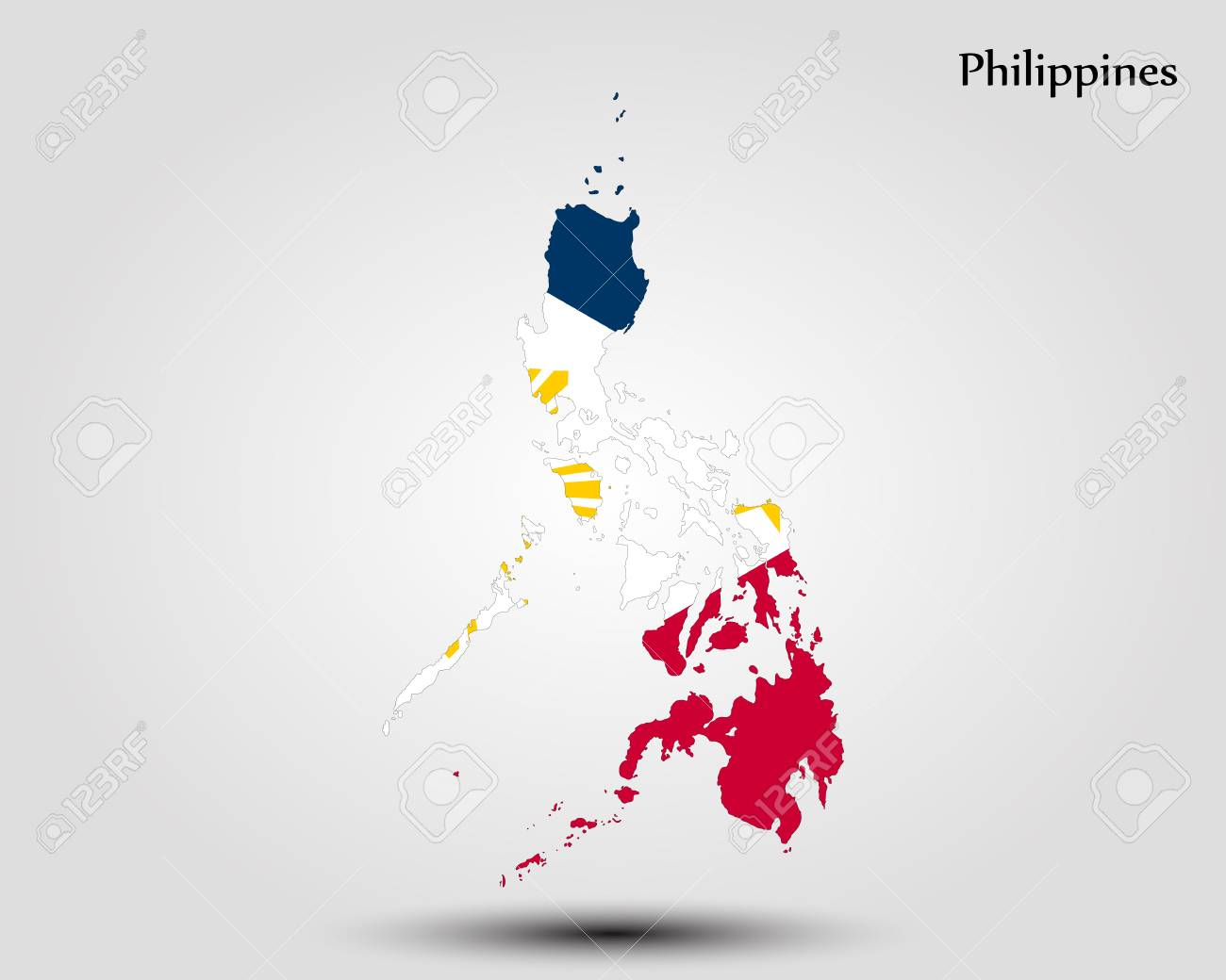 Map of Philippines. Vector illustration. World map Illustration Map Of Philippines In World on map showing philippines, map of philippines in imperialism, map of philippines in asia, map of bohol island philippines, map of morocco and surrounding countries, map of philippines on world map,