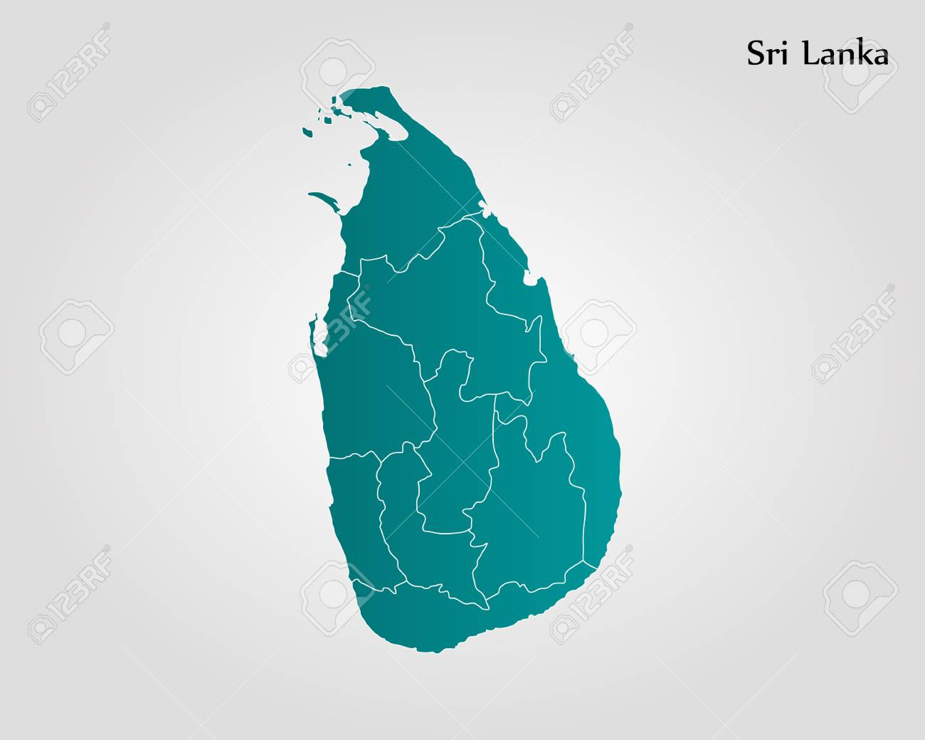 Map Of Sri Lanka Vector Illustration World Map Royalty Free