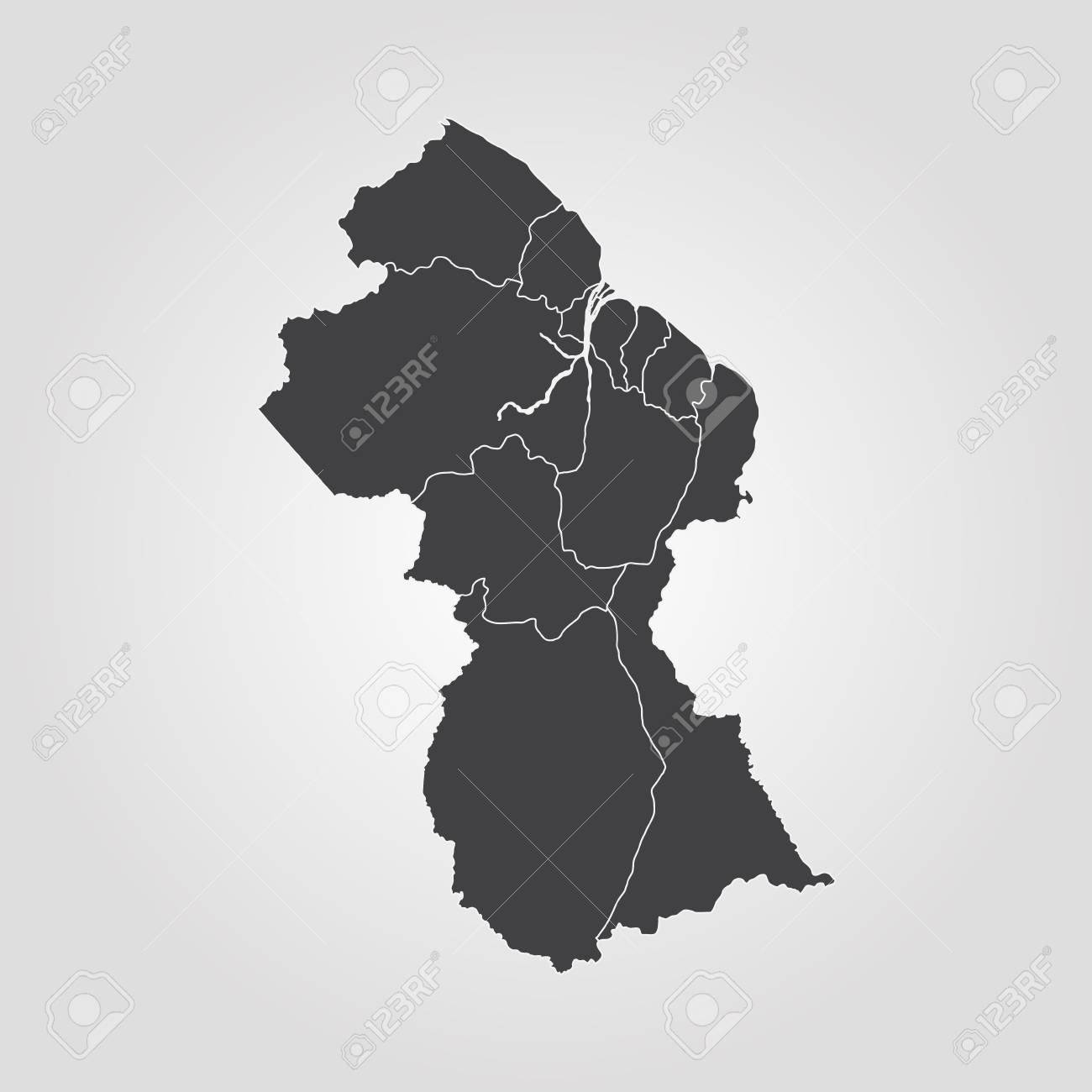 Map Of Guyana Vector Illustration World Map Royalty Free Cliparts
