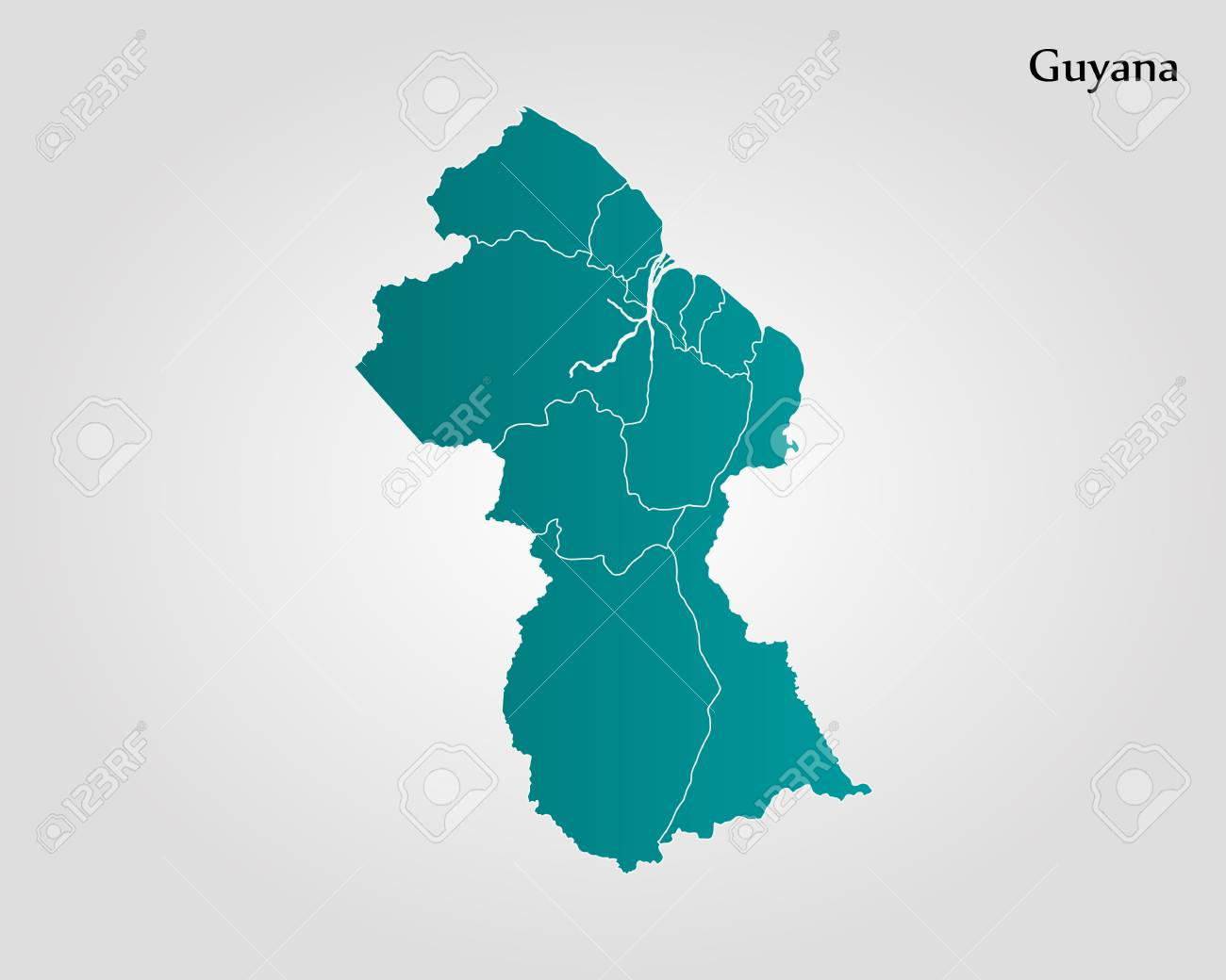 Guyana Location On World Map.Map Of Guyana Vector Illustration World Map Royalty Free Cliparts