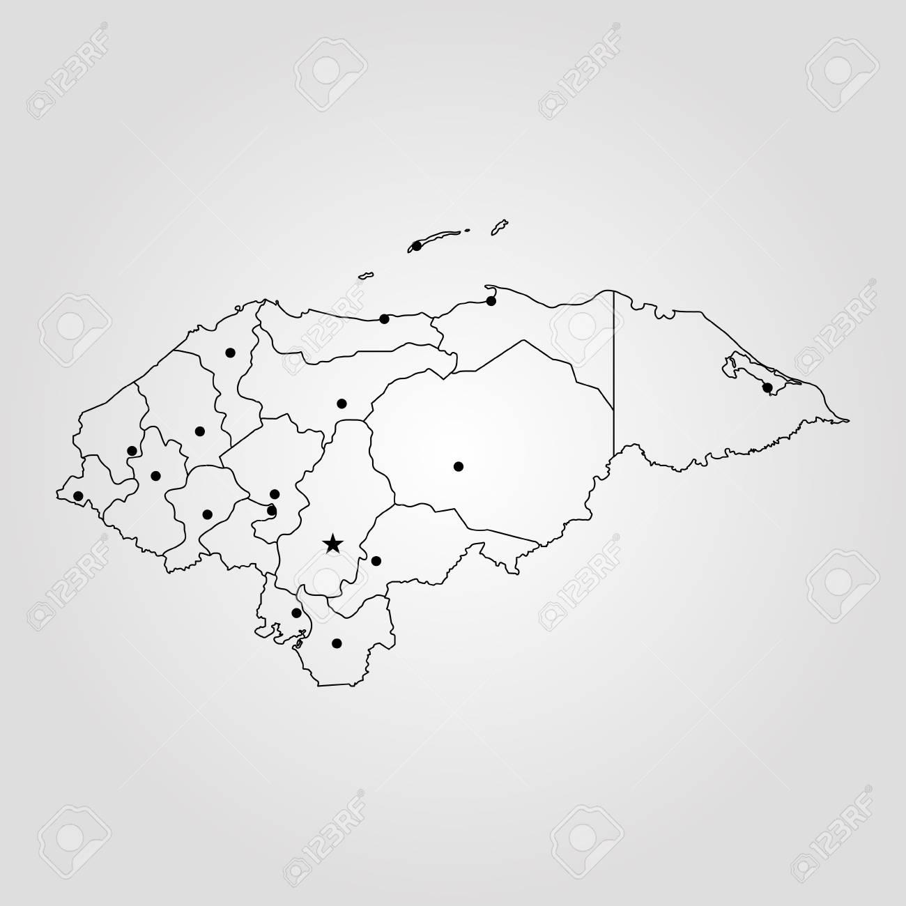 Map Of Honduras Vector Illustration World Map Royalty Free