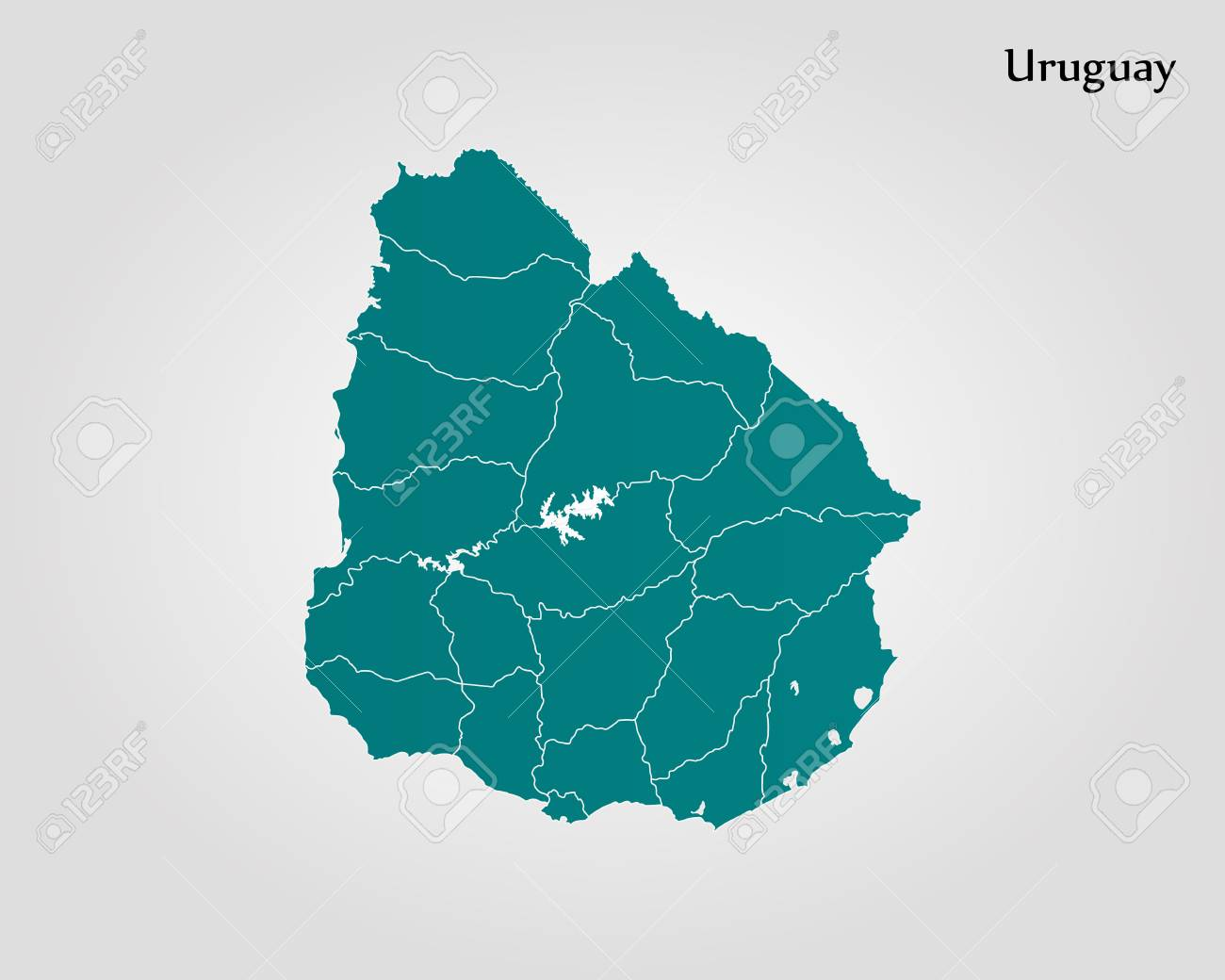 Map Of Uruguay Vector Illustration World Map Royalty Free Cliparts