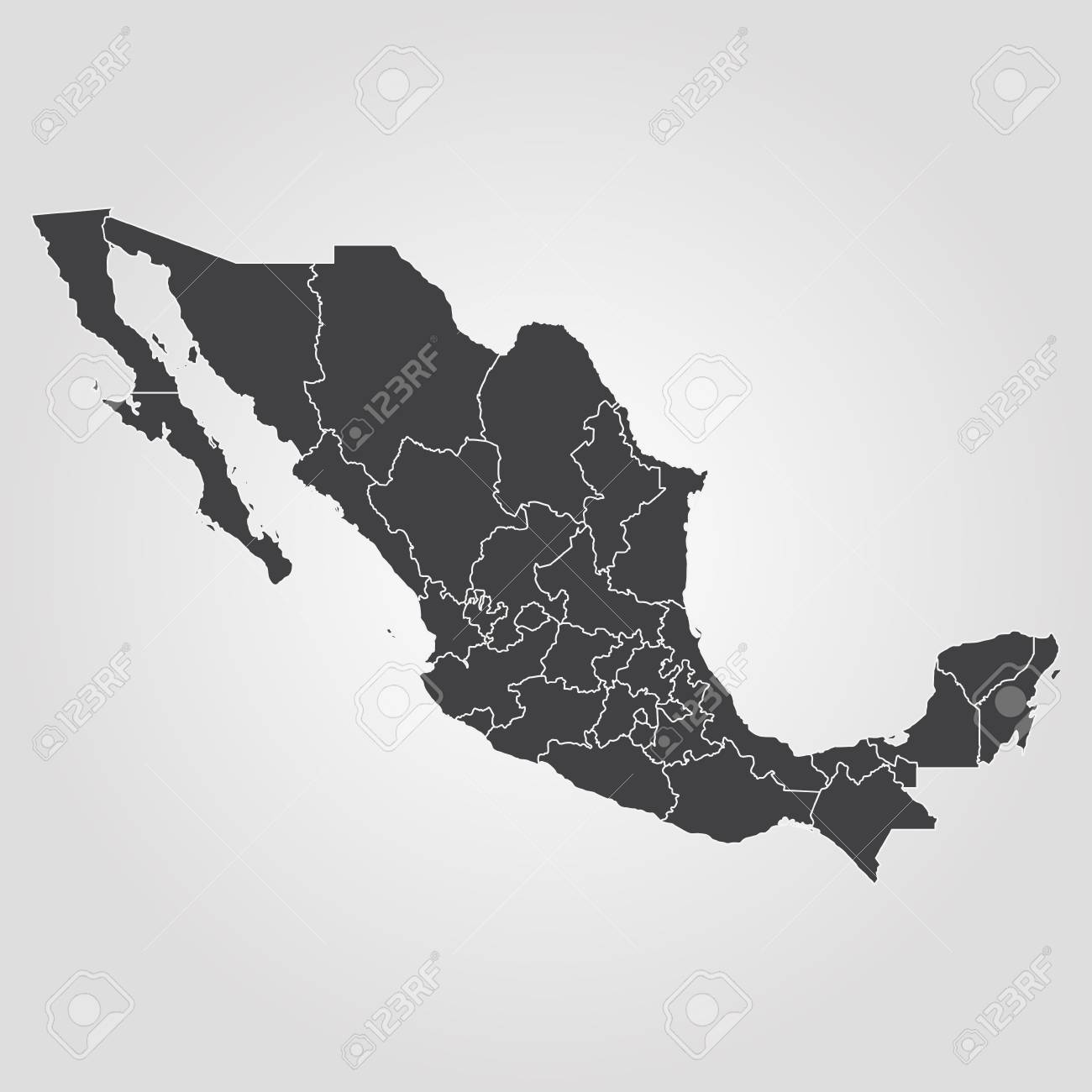 Map Of Mexico. Vector Illustration. World Map Royalty Free Cliparts ...
