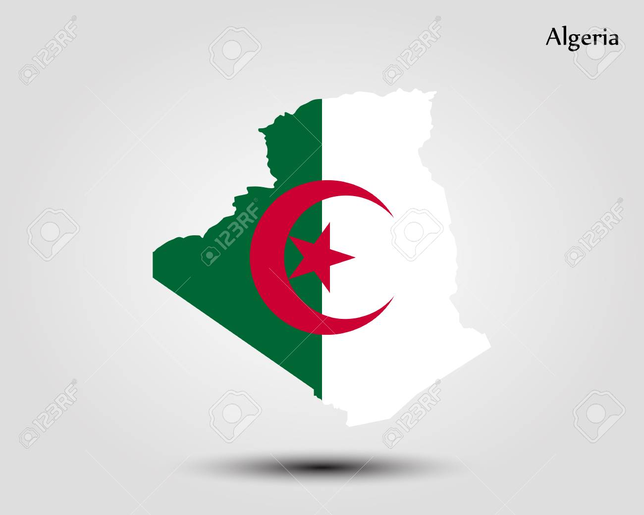 Map Of Algeria Vector Illustration World Map Royalty Free Cliparts