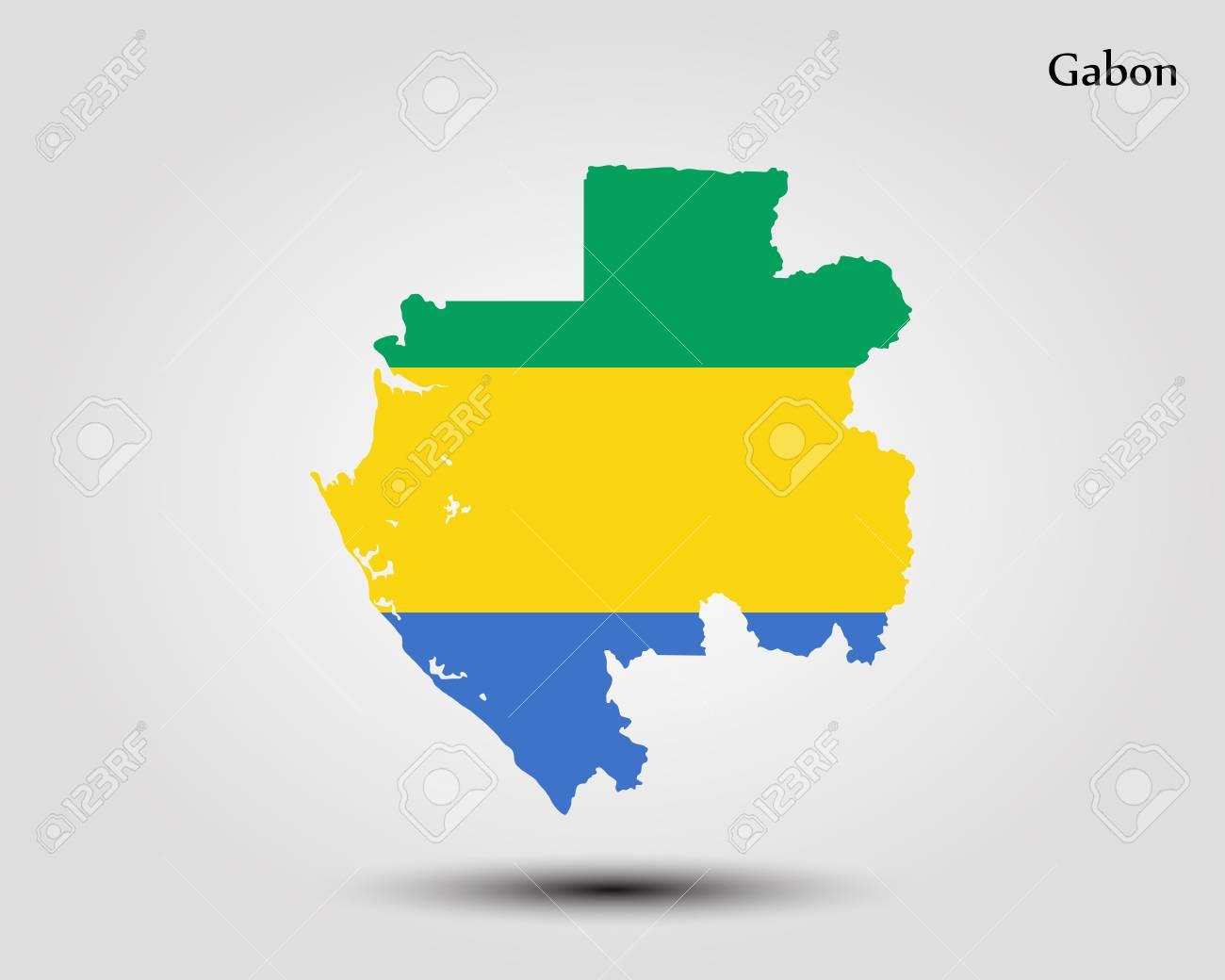 Gabon World Map.Map Of Gabon Vector Illustration World Map Royalty Free Cliparts