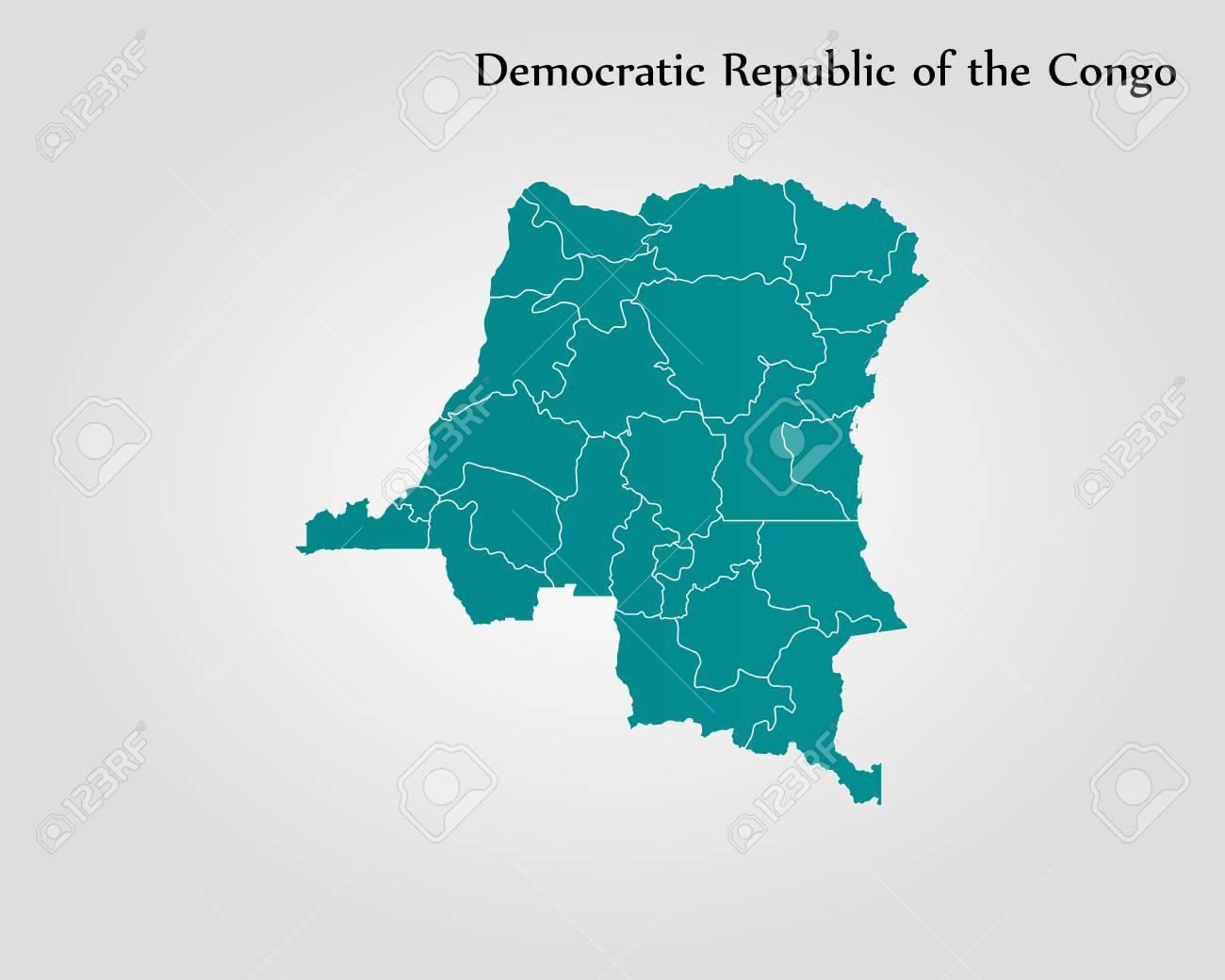 Democratic World Map.Map Of Democratic Republic Of The Congo Vector Illustration