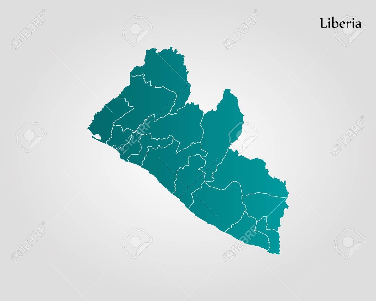 Map Of Liberia Vector Illustration World Map Royalty Free Cliparts