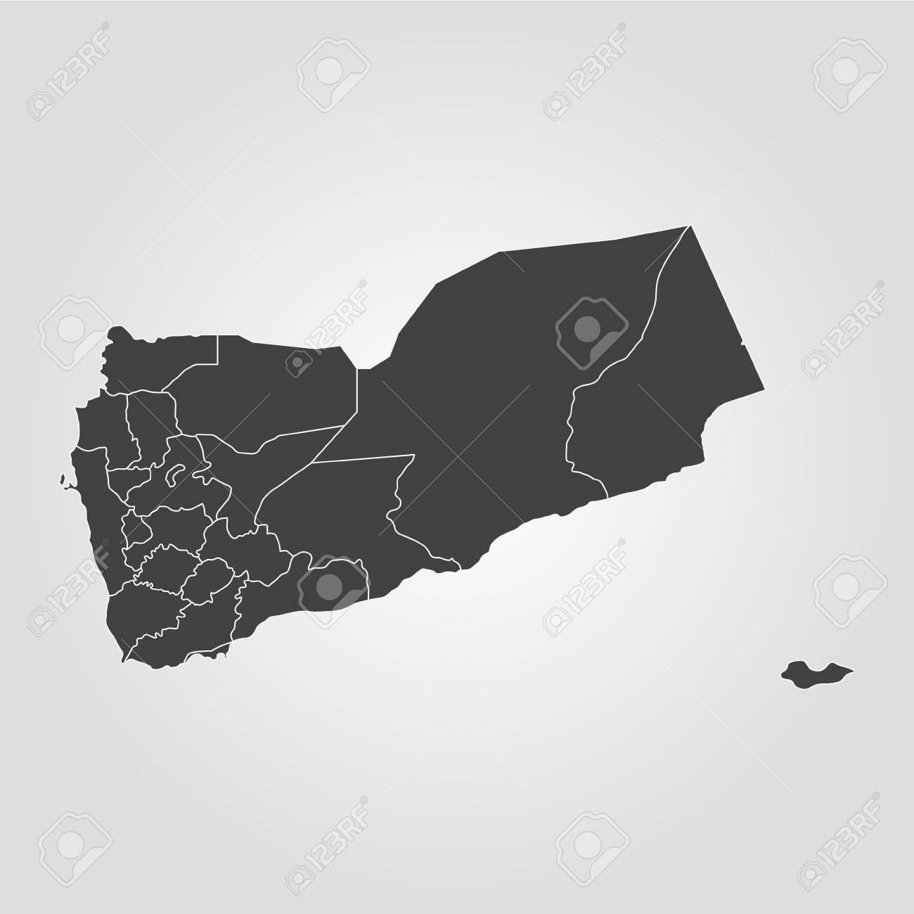 Map Of Yemen Vector Illustration World Map Royalty Free Cliparts