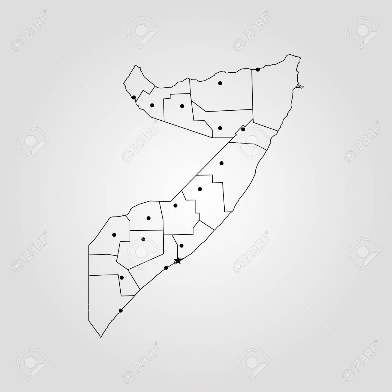 World Map Somolia.Map Of Somalia Vector Illustration World Map Royalty Free Cliparts