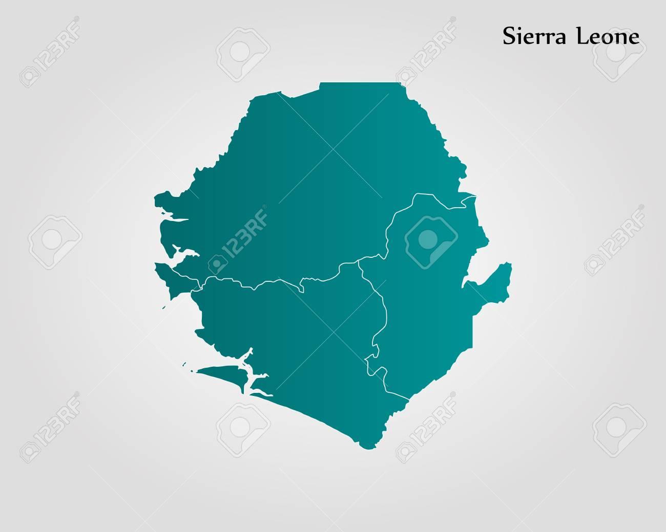 Map Of Sierra Leone Vector Illustration World Map Royalty Free