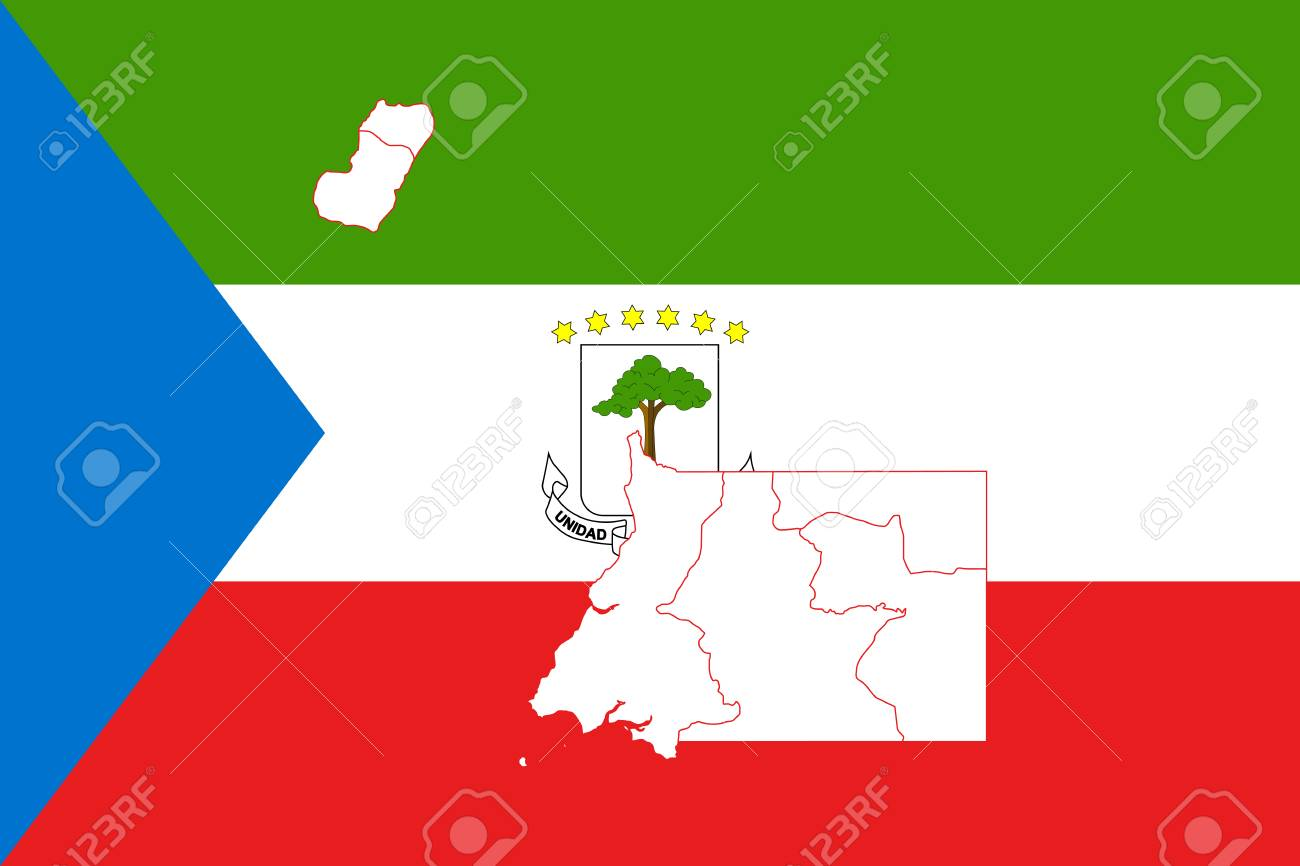Map And Flag Of Equatorial Guinea. Vector Illustration. World ...