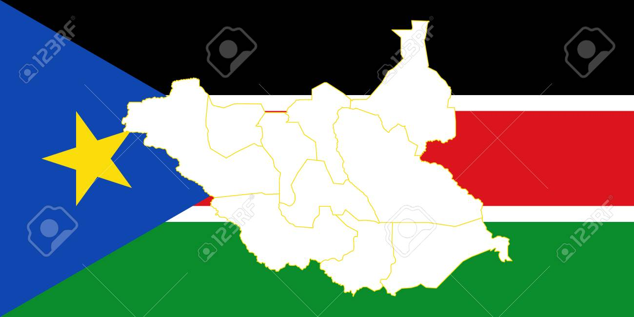 Map And Flag Of South Sudan Vector Illustration World Map Royalty