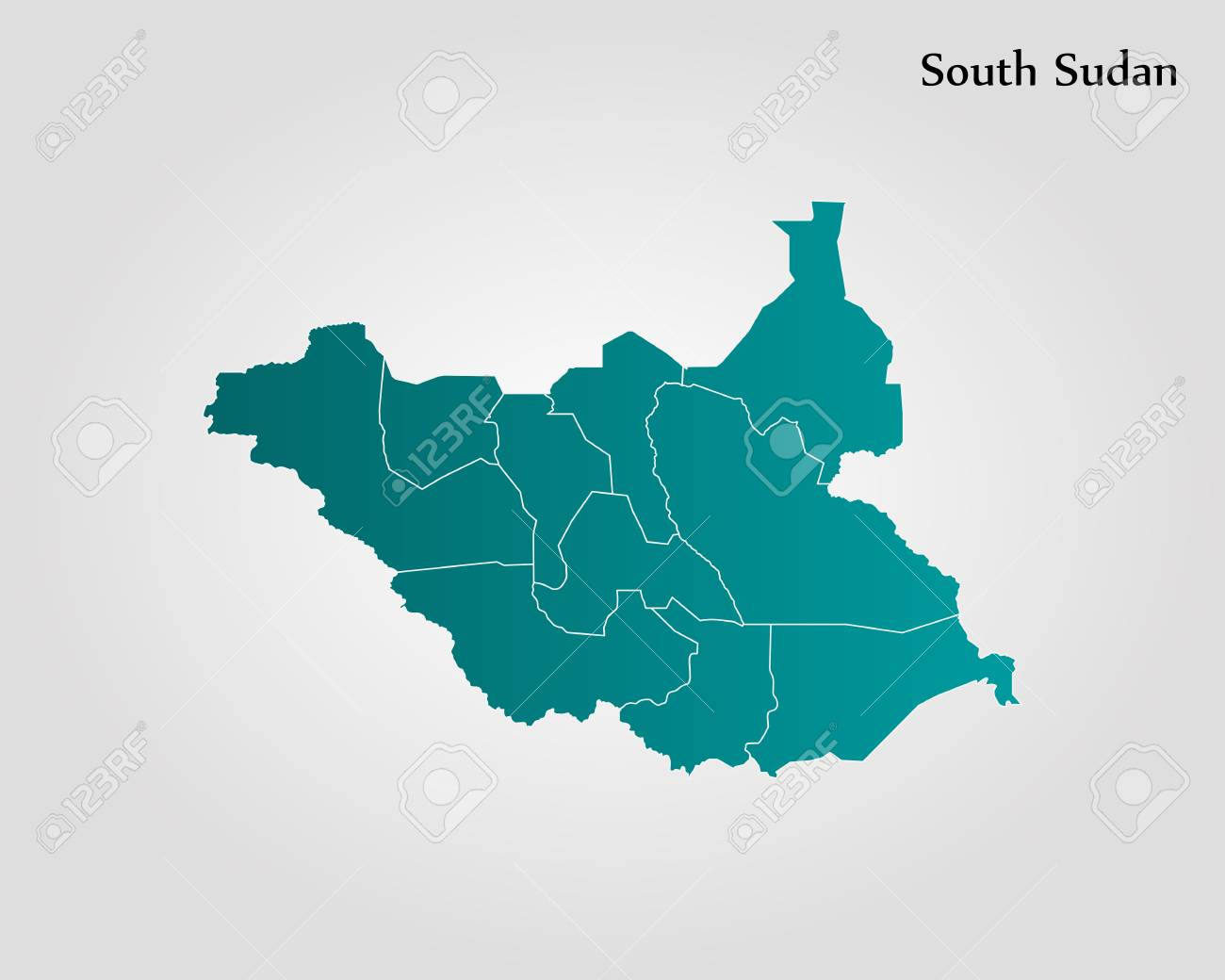 Map Of South Sudan. Vector Illustration. World Map Royalty Free ...