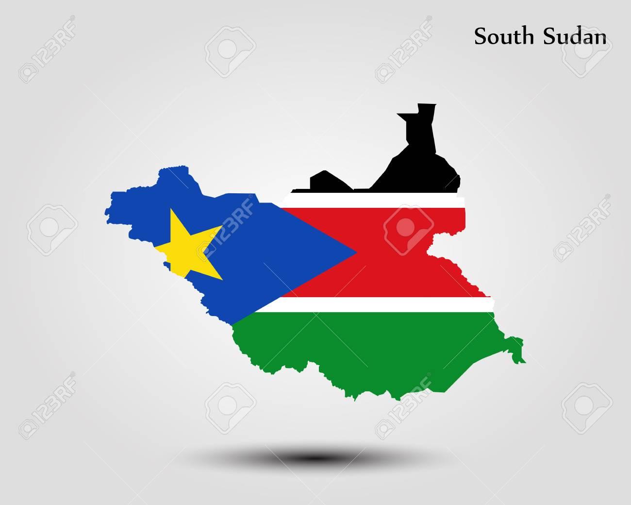 Map Of South Sudan Vector Illustration World Map Royalty Free
