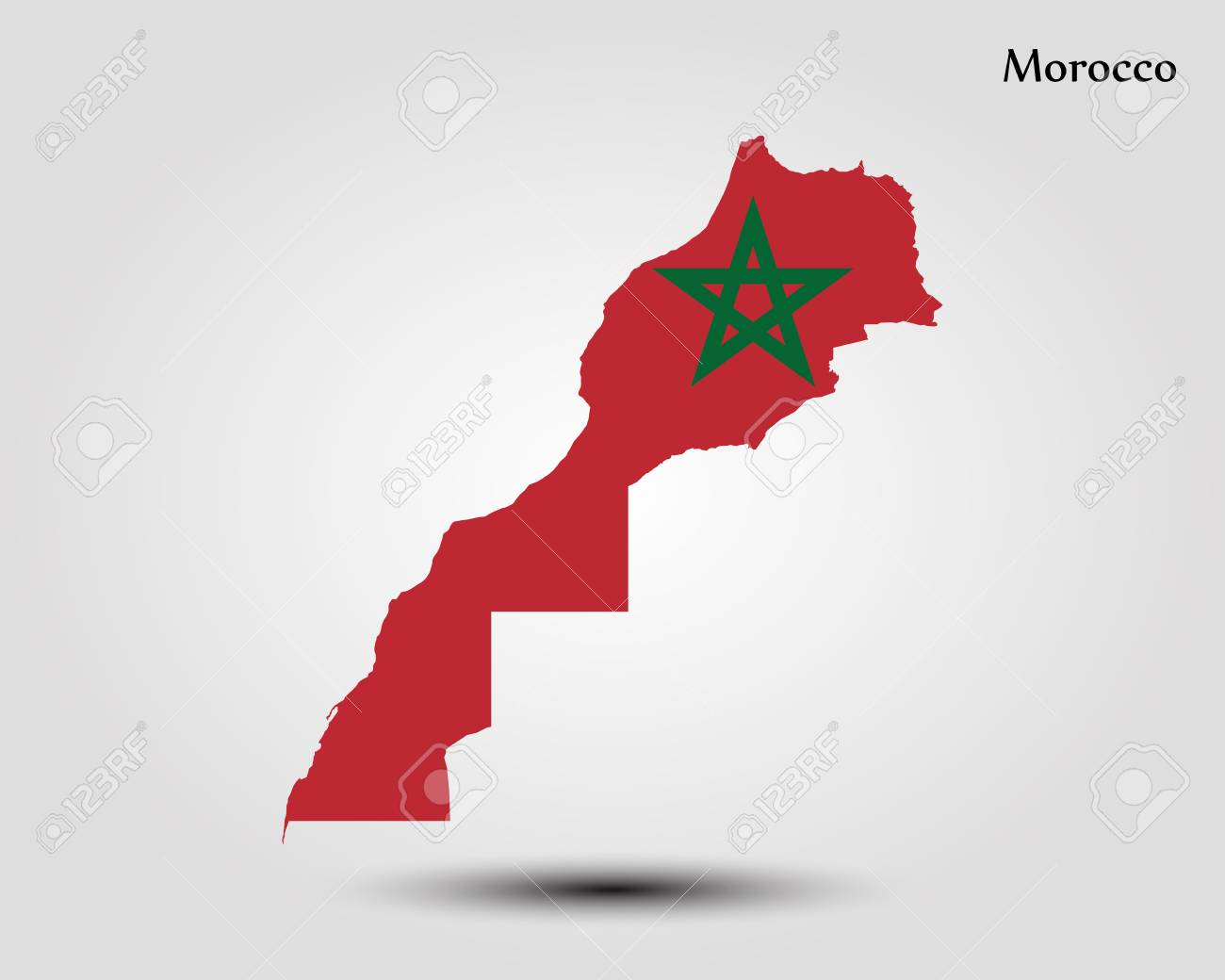 Map of Morocco vector illustration. - 92701679