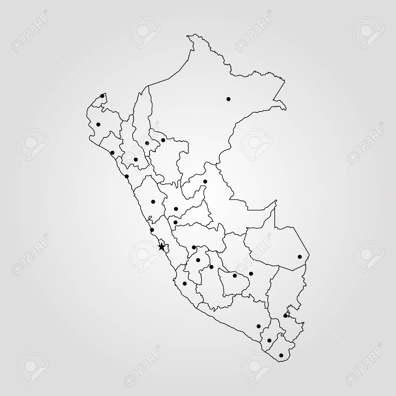 Peru On The World Map.Map Of Peru Vector Illustration World Map Royalty Free Cliparts