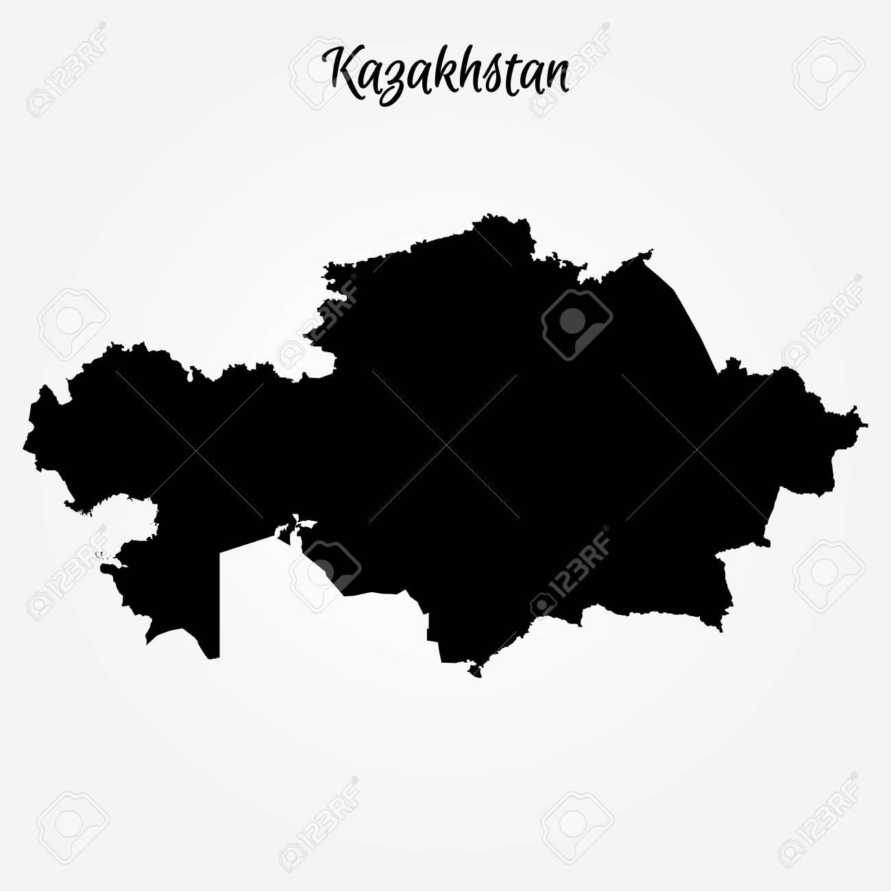 Map Of Kazakhstan Vector Illustration World Map Royalty Free