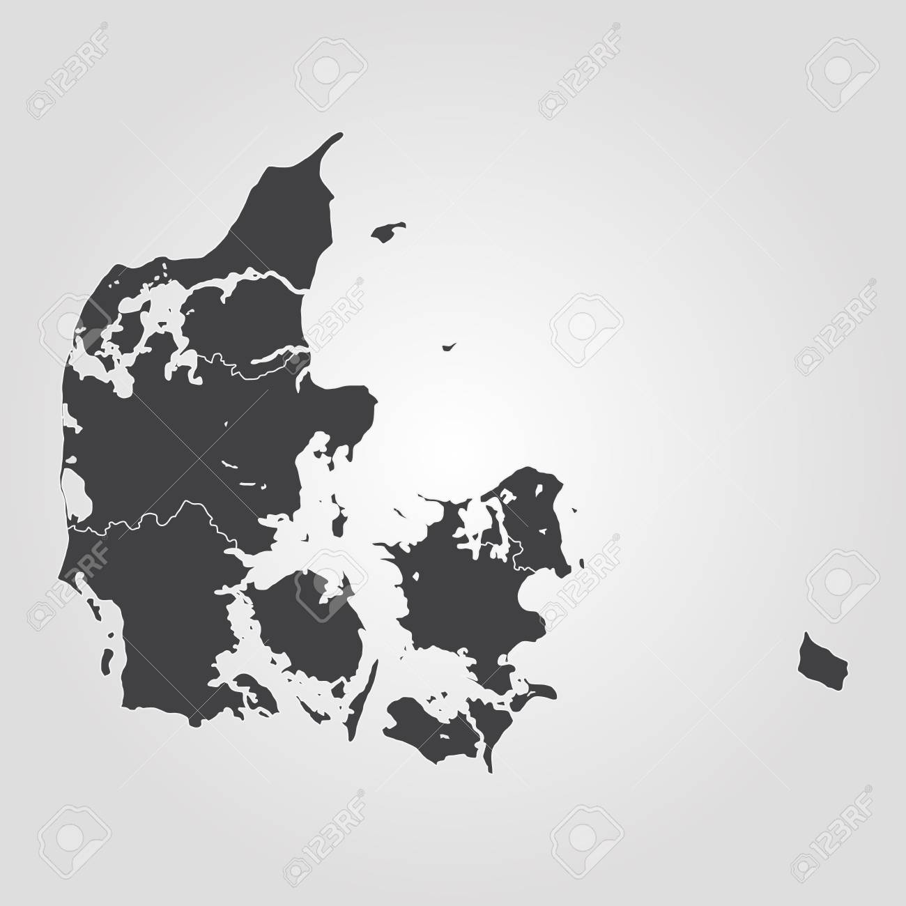 Map Of Denmark. Vector Illustration. World Map Royalty Free Cliparts Denmark World Map on