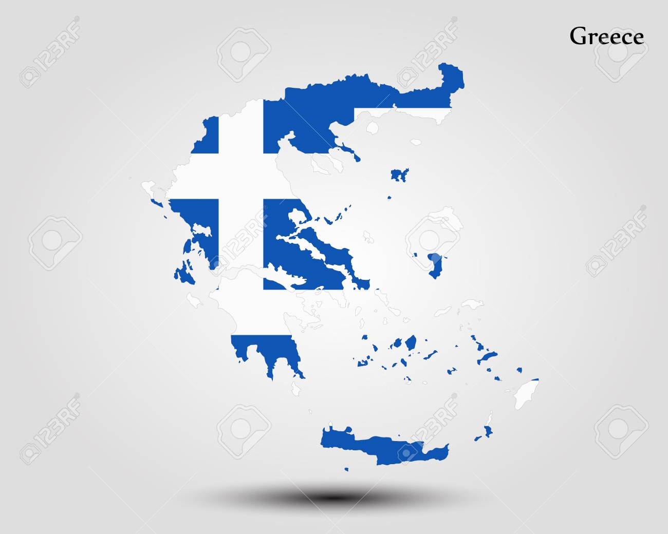 Map Of Greece. Vector Illustration. World Map Royalty Free Cliparts ...