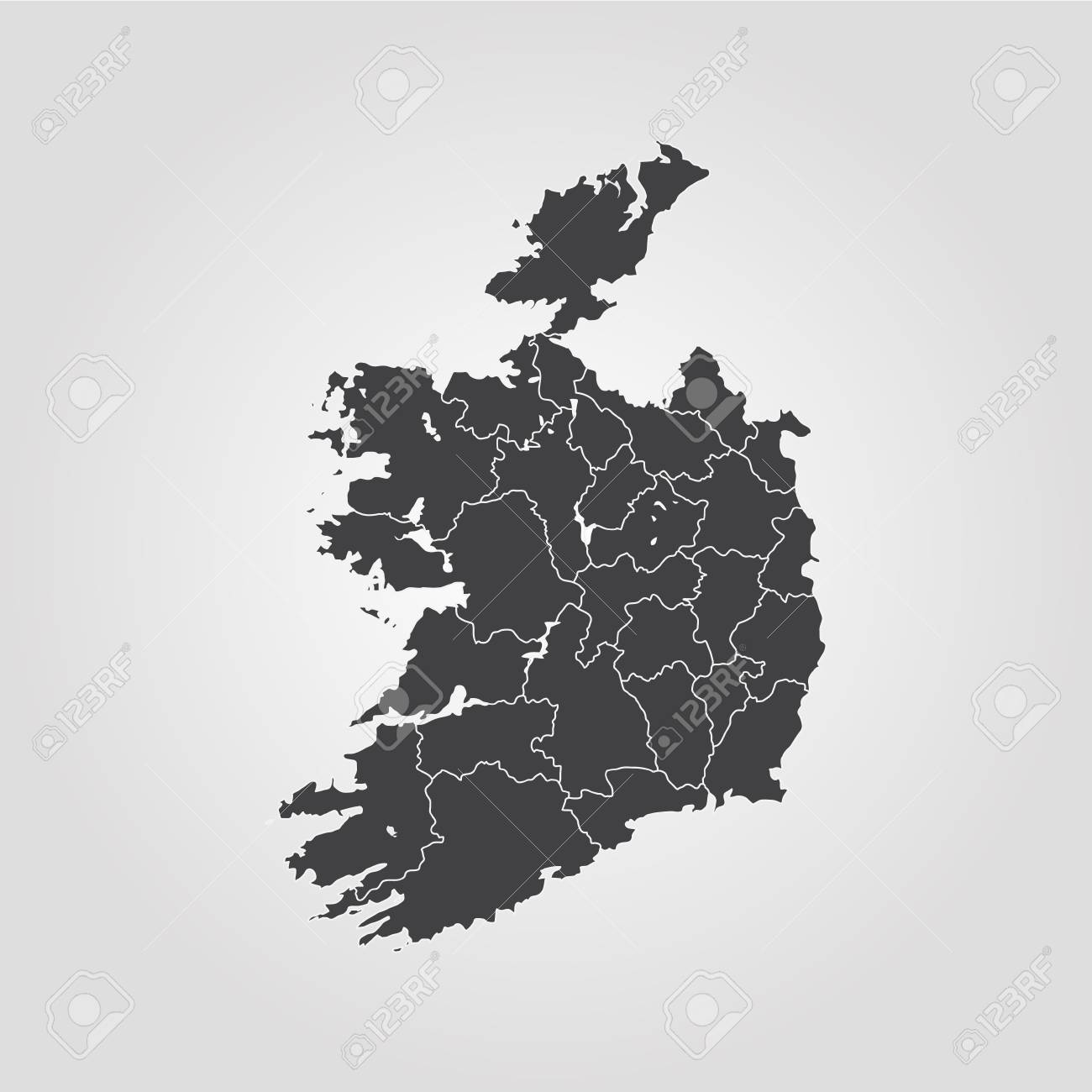 Map Of Ireland Vector Illustration World Map Royalty Free Cliparts