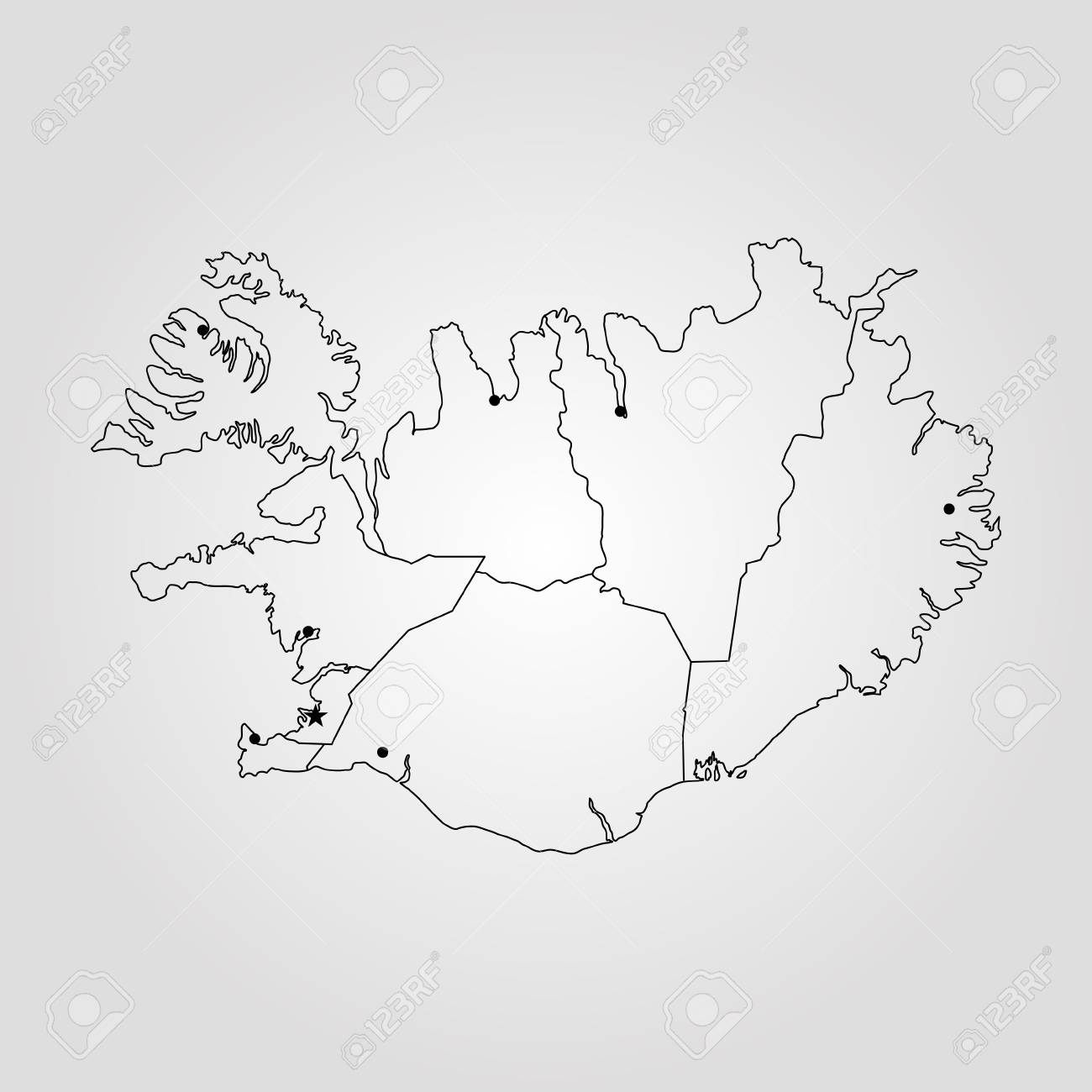Map of Iceland. Vector illustration. World map Iceland On A World Map on england on europe map, south pacific islands world map, iceland on a map of europe, show iceland on world map, iceland map world atlas, island on world map, ascension island map, monster island map, java on world map, reykjavik iceland on world map, latvia on world map, kenya on world map, namibia on world map, easter island map, iceland location on globe, iceland on a canada map, digimon world 1 map,