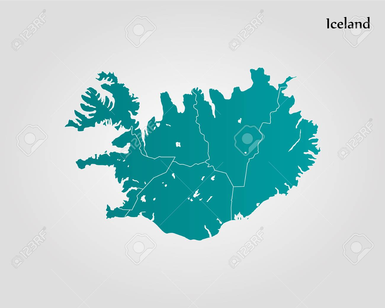 Map Of Iceland. Vector Illustration. World Map Royalty Free Cliparts ...
