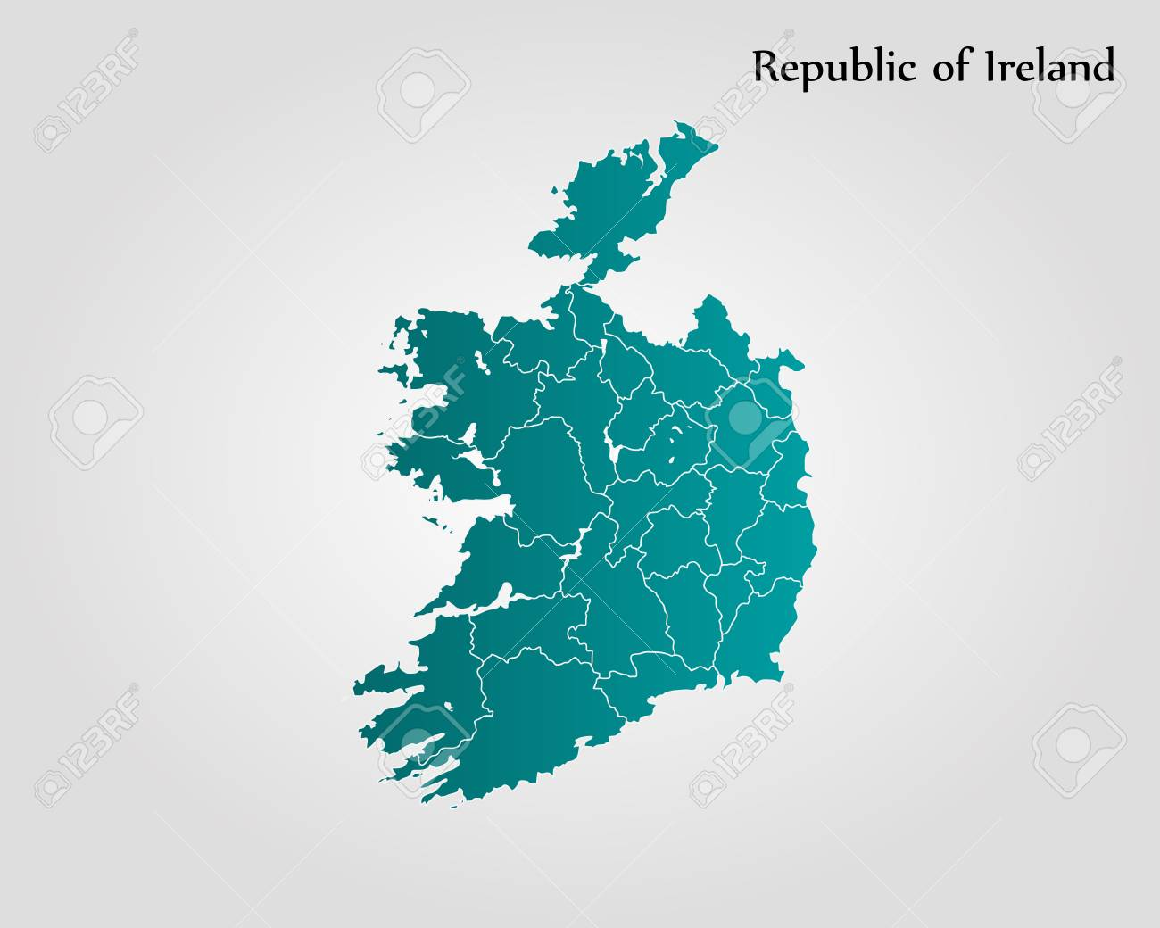 World Map With Ireland.Map Of Ireland Vector Illustration World Map Royalty Free Cliparts
