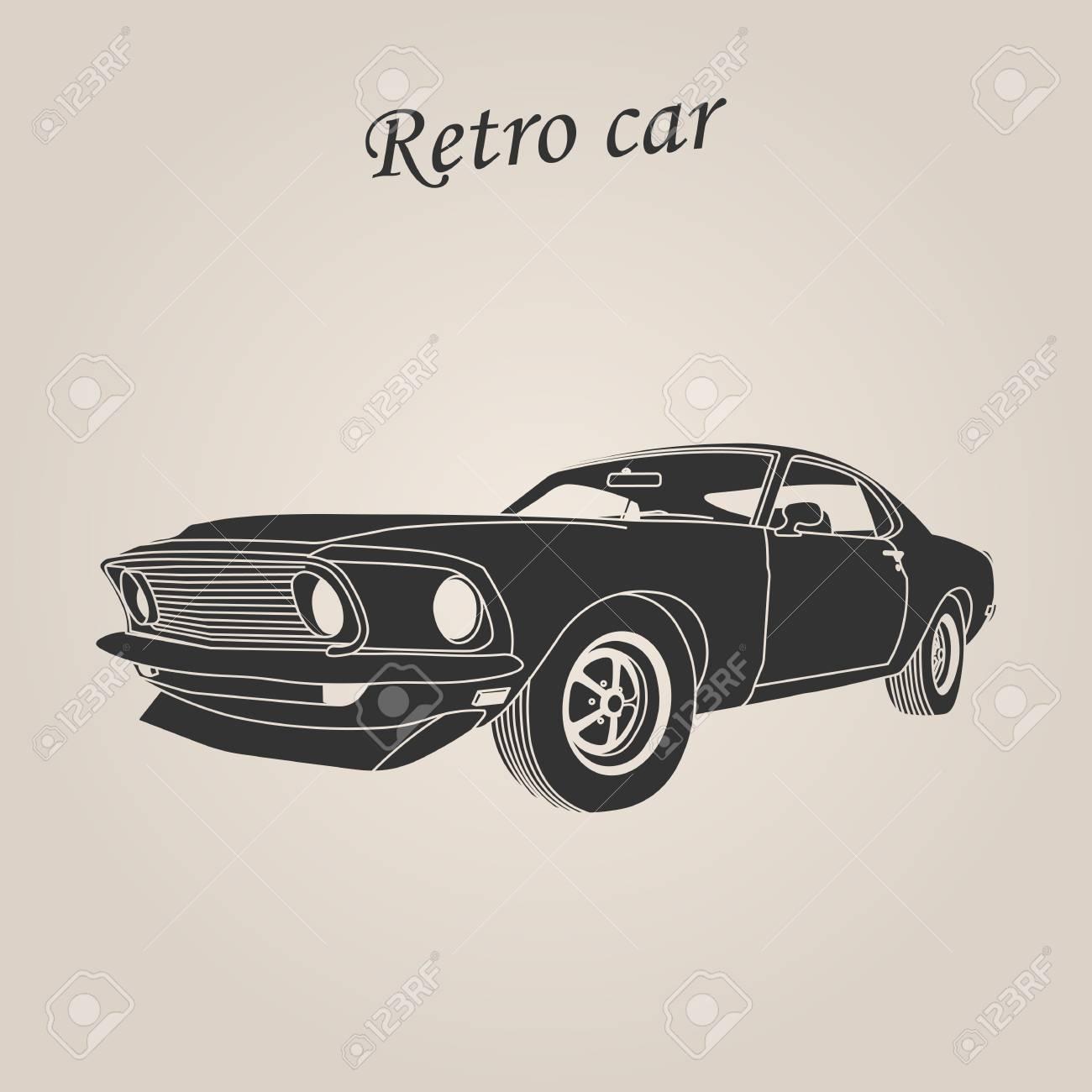 Vintage Car Retro Car Classic Car Illustration Royalty Free