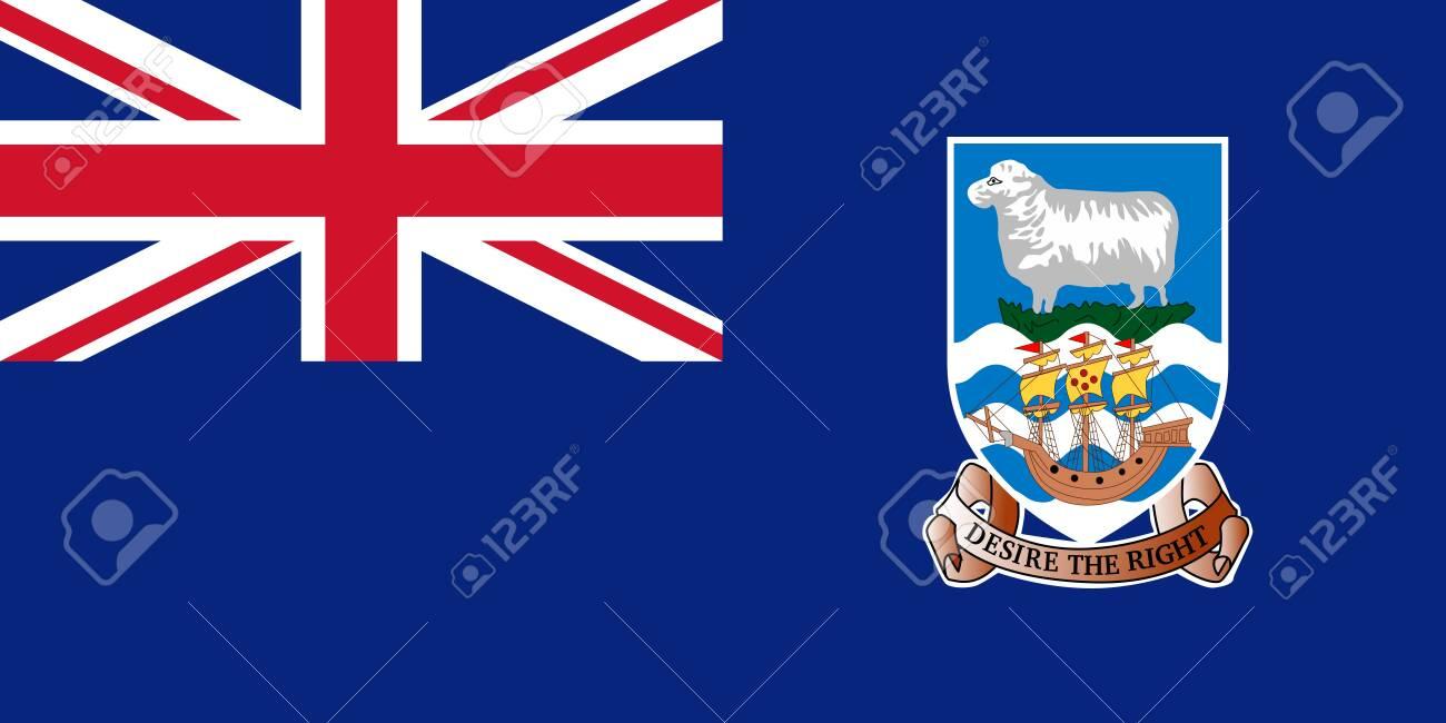 Flag of the Falkland Islands. Vector illustration - 129549845