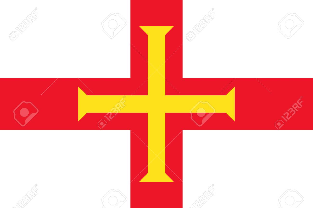 Flag of Guernsey. Vector illustration - 129549854