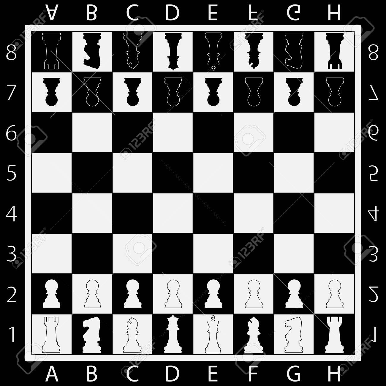 Chess Table online game app concept, strategy game Vector - 129549849