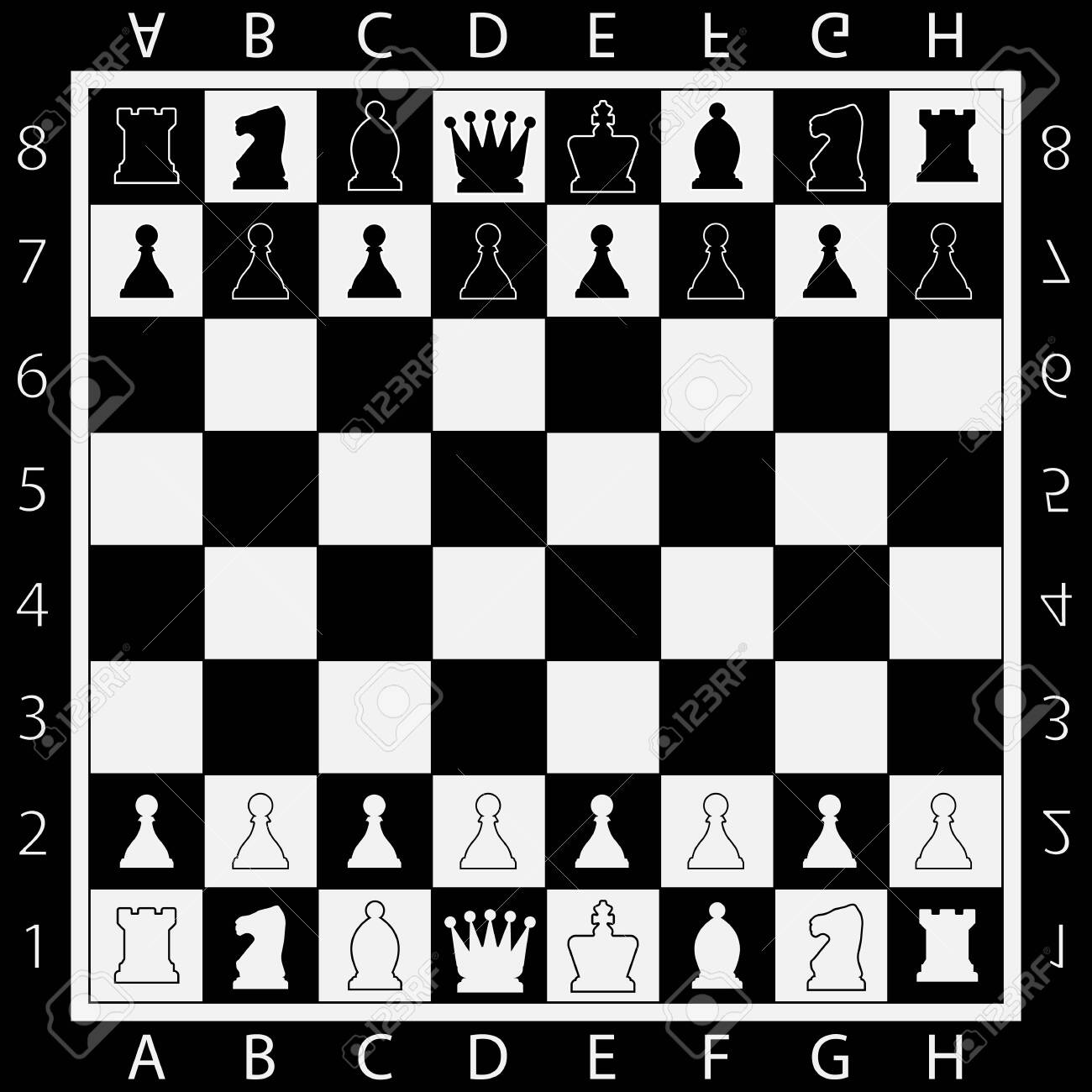 Chess Table online game app concept, strategy game Vector - 129549858