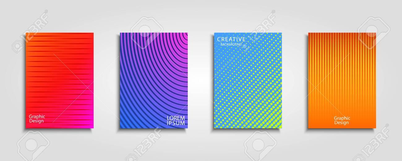 Minimal vector covers design. Cool gradients. Future geometric template. - 148376829