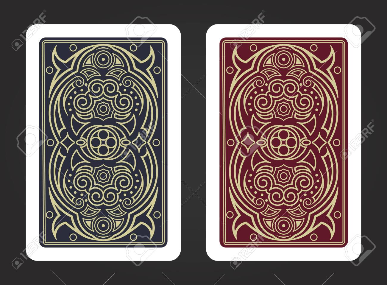 The reverse side of a playing card - 149146903